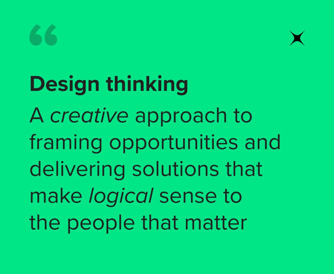 Design thinking - quote